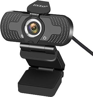 Webcam for PC, Eocean HD 1080P USB PC Computer Webcam with Microphone, Laptop Desktop Full HD Camera Video Webcam 110-Degr...