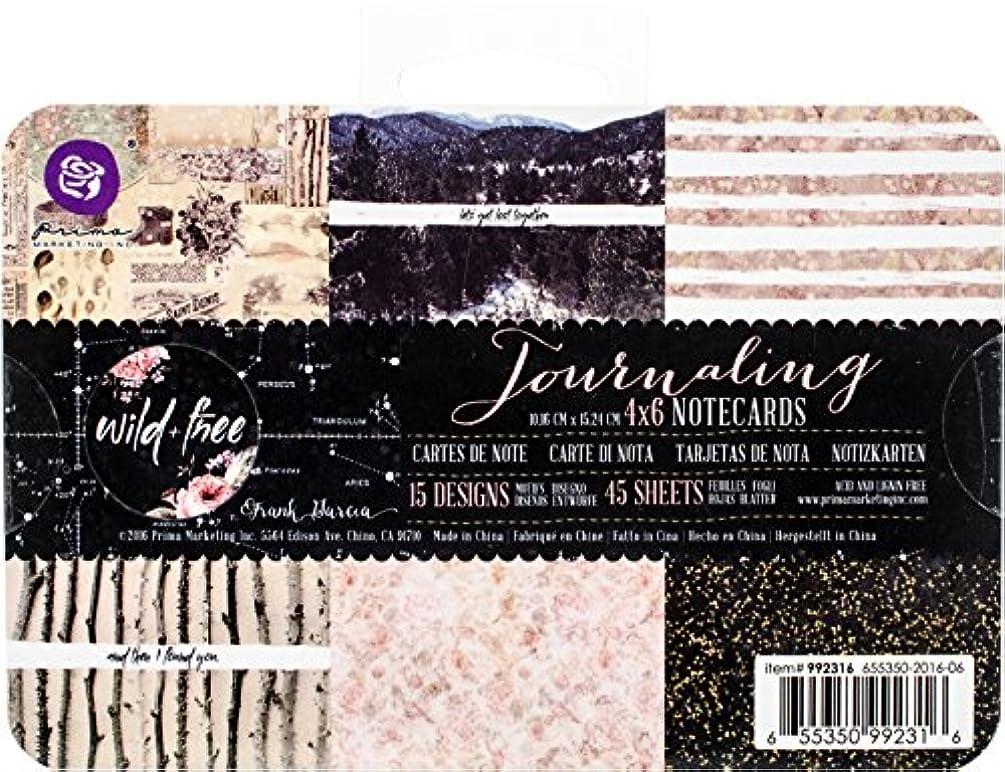 Prima Marketing 4x6 Journaling Notecards-Wild & Free Art