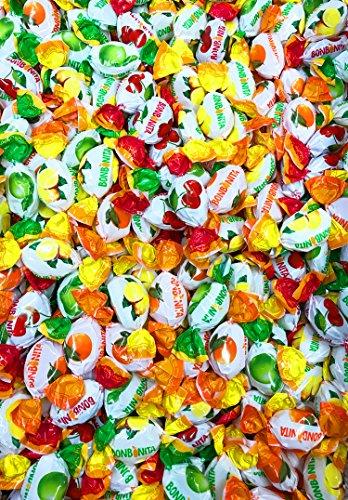 Bunte Bonbonmischung / Hartkaramellen mit Apfelsinen-, Zitronen-, Kirsch und Apfelgeschmack (Lose Ware / 10 kg) KARNEVALSMISCHUNG