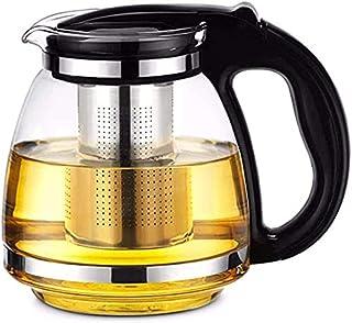 Glazen theeservies, hittebestendige theepot, roestvrijstalen zeef, theepot met grote capaciteit;-1100ml