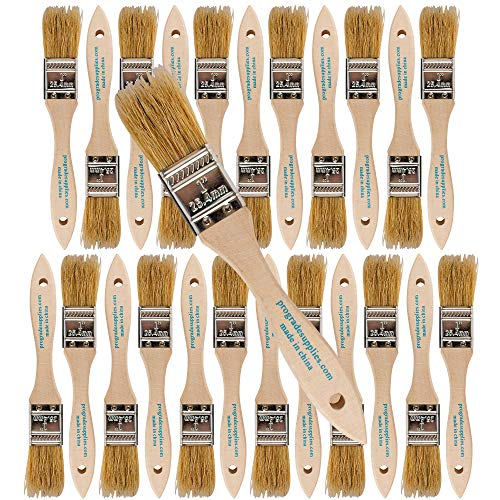 Pro Grade - Chip Paint Brushes - 24 Ea 1 Inch Chip Paint Brush