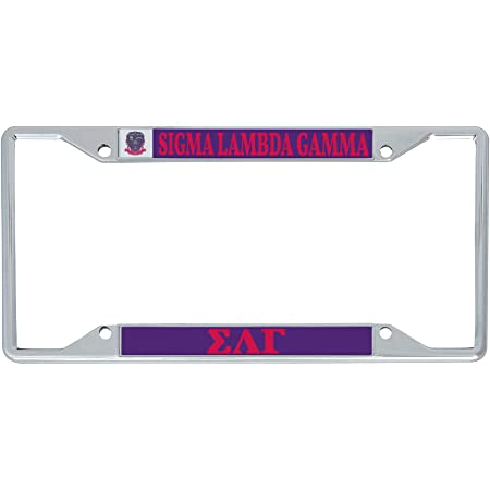 Officially Licensed Sigma Lambda Gamma License Plate Frame Matte Pink