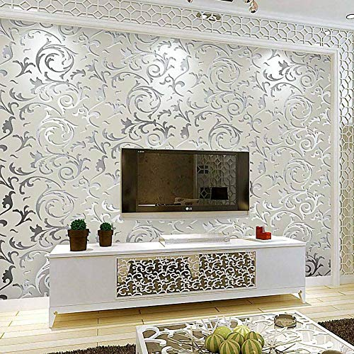 Carta da parati, 3D di lusso, in tessuto non tessuto, stile barocco, in tessuto non tessuto, decorazione da parete