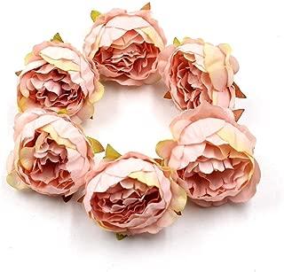 FLOWER 15pcs/lot 5cm Peony Head Silk Artificial Wedding Decoration DIY Garland Scrapbook Gift Box (Champagne)