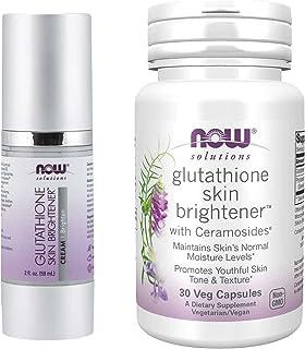 EVAXO LUV BOX - VARIETY Glutathione Skin Brightener، PACK OF 2 (Brightener Cream 2 OZ، Ceramosides - 30 Veg Capsules)