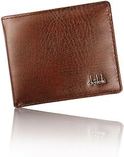 Men Bifold Business Leather Wallet,Tuscom@ ID Credit Card Purse