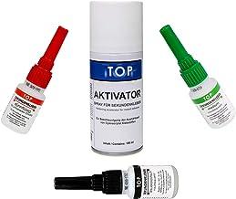 3 x TOP secondelijm elk 20 g + activatorspray 200 ml ✓ voor alle toepassingen ✓ bliksemlijm ✓ atoomlijm ✓ superlijm ✓ dun ...