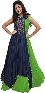 Georgette Women's Ethnic Gowns: Buy Georgette Women's Ethnic