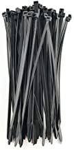 HS Plastic Zip Wire Ties Black Nylon Cable Zip Ties for Fencing Travel Outdoor Purpose, Cable Ties 14 Inch 50 LBS UV Resistant 100 Pieces