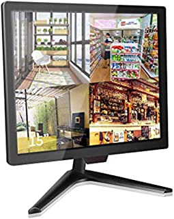 """15"""" CCTV Monitor, Cocar Security Monitor Screen, LCD Display for Home Security Systems Surveillance Camera STB PC, 1024x76..."""