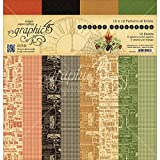 Graphic 45 Master Detective 12'x12' Patterns & Solids Paper Pad (16 Sheets)