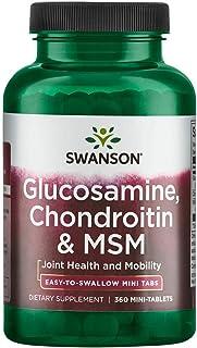 Swanson Mini-Tabs Glucosamine Chondroitin & Msm 750/600/300 Milligrams 360 Tabs