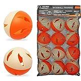 Precision Impact Baseball Practice Balls: Heavy-Duty Lightweight Balls for Baseball Hitting Training (12-Pack)
