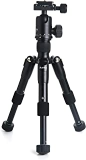 Ruittos Tabletop Tripod, Mini Tripod, 22inch High, with 360 Degree Pan Ball Head, Aluminum Alloy, Ultra Compact, Portable for DSLR, Travel