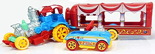discount Hot Wheels online 2018 Car-Nival Steamer Vehicle w/ Detachable Trailer & online Pedal Car outlet online sale