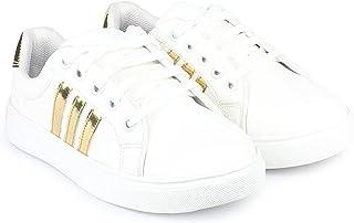 Shoefly Women White Sports Running Shoe
