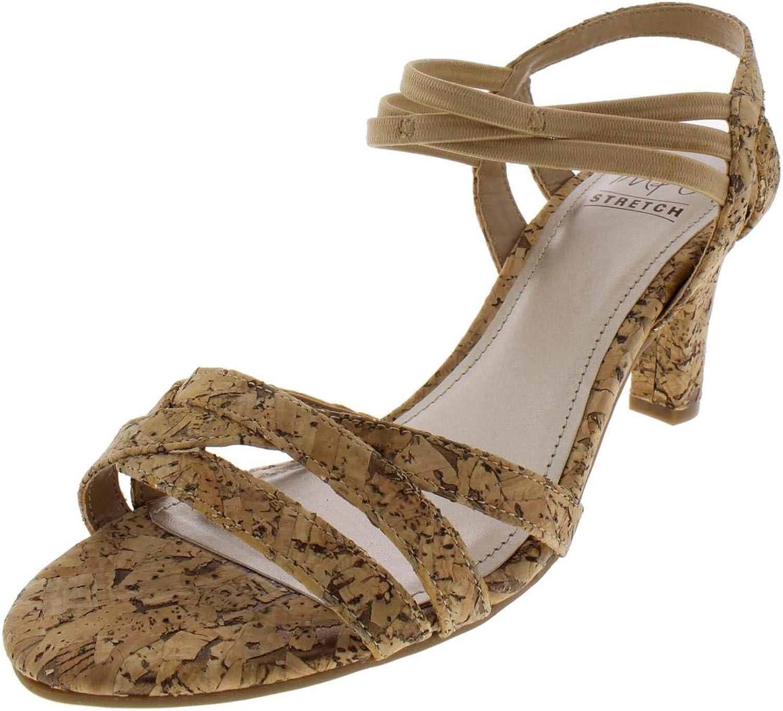 Impo Womens Vanish Cork Strappy Heel Sandals
