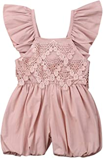 Baby Girl Ruffle Lace Romper Toddler Kid Summer Sleeveless Backless Jumpsuit for 0-5 Years