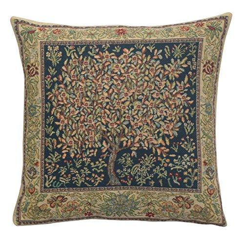 Charlotte Home Furnishing Inc. Belgium Cushion Cover - Medium, 16.00 in. x 16.00 in. William Morris | Tree of Life Pastel
