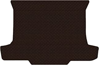 Brightt (MAT-KYY-745) Standard Deck Floor Mat - Brown All-Weather Rubber Weave Pattern - compatible with 1976-1979 Corolla Hatchback (1976 1977 1978 1979 | 76 77 78 79)