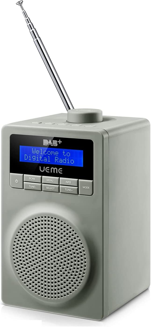 UEME Digitalradio DAB+ DAB UKW Radio Mit Wecker Grau