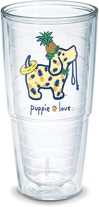 Tervis 1293639 Puppie Love Pineapple Pup Tumbler With Wrap 24oz Clear