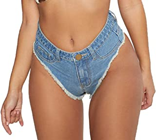 Oflive Women's Sexy High Waisted Mini Denim Shorts Hot Pants Clubwear
