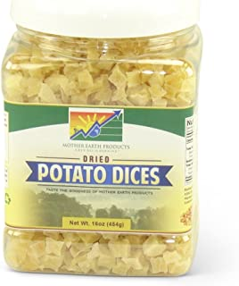 Mother Earth Products Dried Potato Dices, Quart Jar