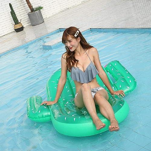 Jouets Gonflables D'été,jeux D'eau Rangée Flottante De Cactus Géant, Lit Flottant Gonflable En Pvc - 180x145cm