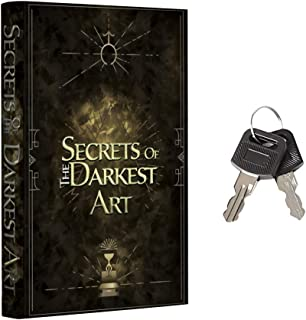 Real Pages Portable Diversion Book Safe with Key Lock - Hollowed Out Book with Hidden Secret Compartment for Jewelry, Mone...