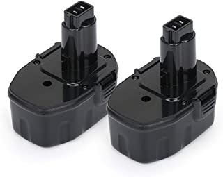 POWERU 14.4V 2.0Ah NiCd Replacement Battery for Dewalt XRP DC9091 DW9094 DW9091 DE9031 DE9038 DE9091 DE9092 DE9094 DE9502 (2-Pack)