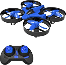 $25 » Portable Mini Drones for Kids, Remote Control RC Nano Quadcopter for Adults & Beginners RTF Toys Gift with 3D Flip, Headless Mode, One Key Return, LED Light for Boys and Girls, Blue