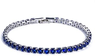 Sukkhi Crystals from Swarovski Platinum Plated Bracelet for Women and Girls (BC80979)