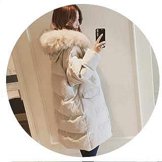 Winter Women Long Hoodie Down et Fur Collar Warm Solid Thick Plus Slim Thin Outerwear Coat