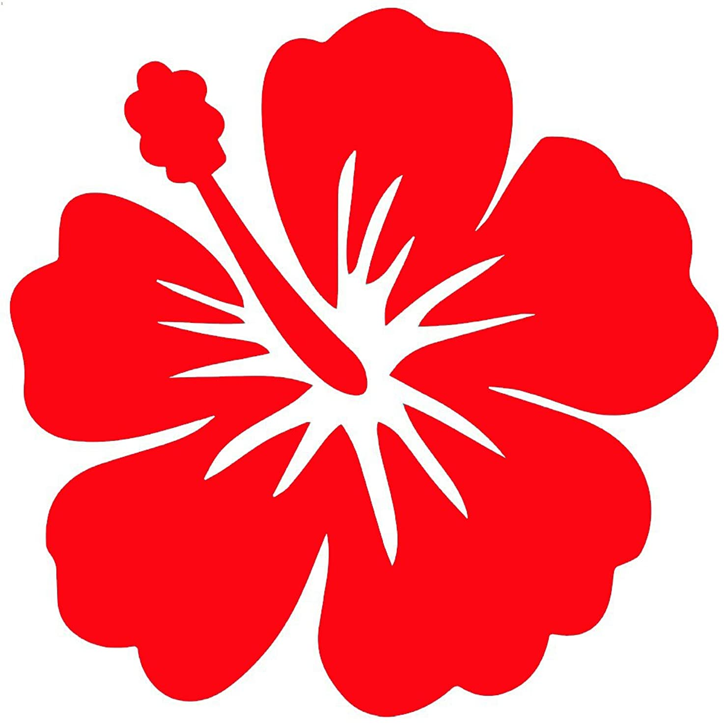 StickerDad Tropical Hibiscus Flower V2 Vinyl Decal - Size: 4