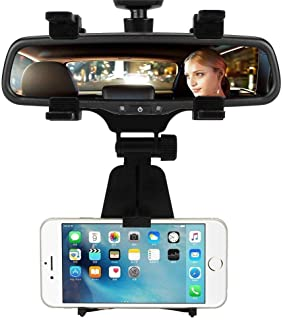 RONSHIN Phone Holder,Universal Car Rear-view Mirror Mount Stand Holder Cradle for Cell Phone