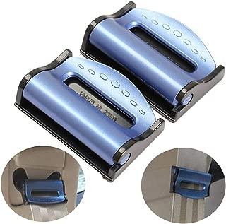 IronBuddy 2Pcs Seat Belt Clips Seat Belt Adjuster Plastic Seatbelt Locking Clip (Color 1 - Blue)