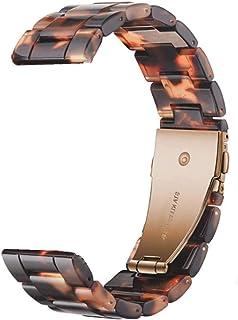 ZAALFC Banda de Reloj de Resina de 22 mm para Samsung Galaxy Watch 3 45mm Banda para Huawei Watch GT2E GT2 46mm Correa par...