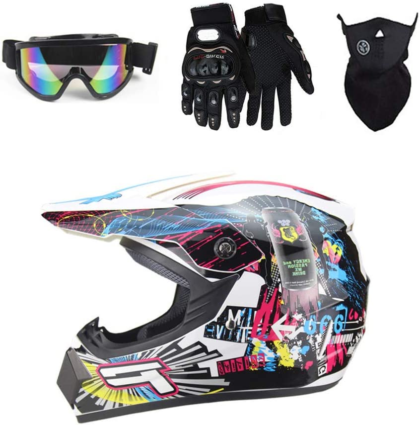 Myleisure DOT Motocross Helmet Set Goggles Shie Gloves with Japan Maker New Free Shipping New Face