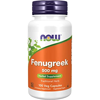 NOW Supplements, Fenugreek (Trigonella foenum-graecum) 500 mg, Herbal Supplement, 100 Veg Capsules