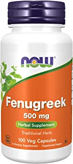 NOW Fenugreek 500mg, 100 Capsules