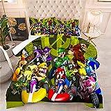 Juego de Ropa de Cama con 3D Adultos Conjunto de Funda Nórdica Super Mario Single(135X200 Cm), 2 Piece Set 1 Piece Quilt Cover + 1 Piece Matching Pillowcase