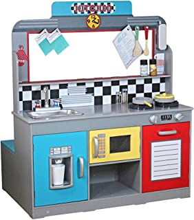 WOOMAX - Cocinita de madera y Bar Retro (ColorBaby 85287)