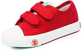 ENERCAKE Kids Toddler Sneakers for Boys Girls Classic Dual Hook and Loops Baby Fashion Sneakers Canvas Shoes