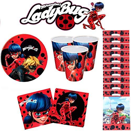 Ladybug Miraculous cumpleaños - Kit de cumpleaños 10 Personas