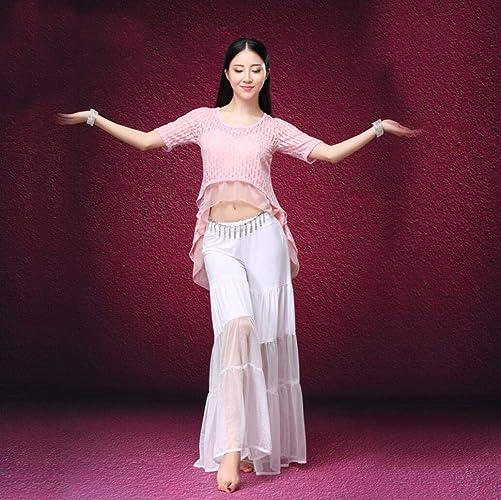 Z&X Costume De Danse De Ventre Costumes d'exercice Ensemble Femmes, Pantalon grand-Jambes en Forme Libre