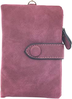 Placextre Cute Women's Tri-Fold Wallet Purse Short Design Fashion PU Leather Card Holders