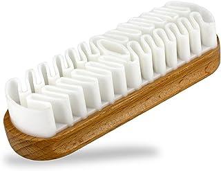 EQLEF Cepillo de Gamuza, Cepillo de Gamuza para Limpiar la descontaminación de Calzado/Botas/Accesorios de Gamuza
