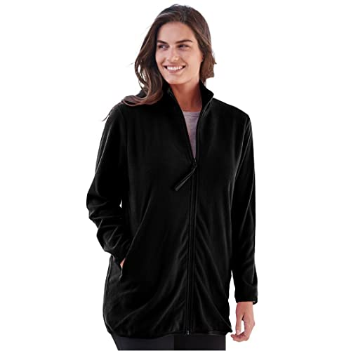 c838966d9bf Woman Within Plus Size Zip-Front Microfleece Jacket