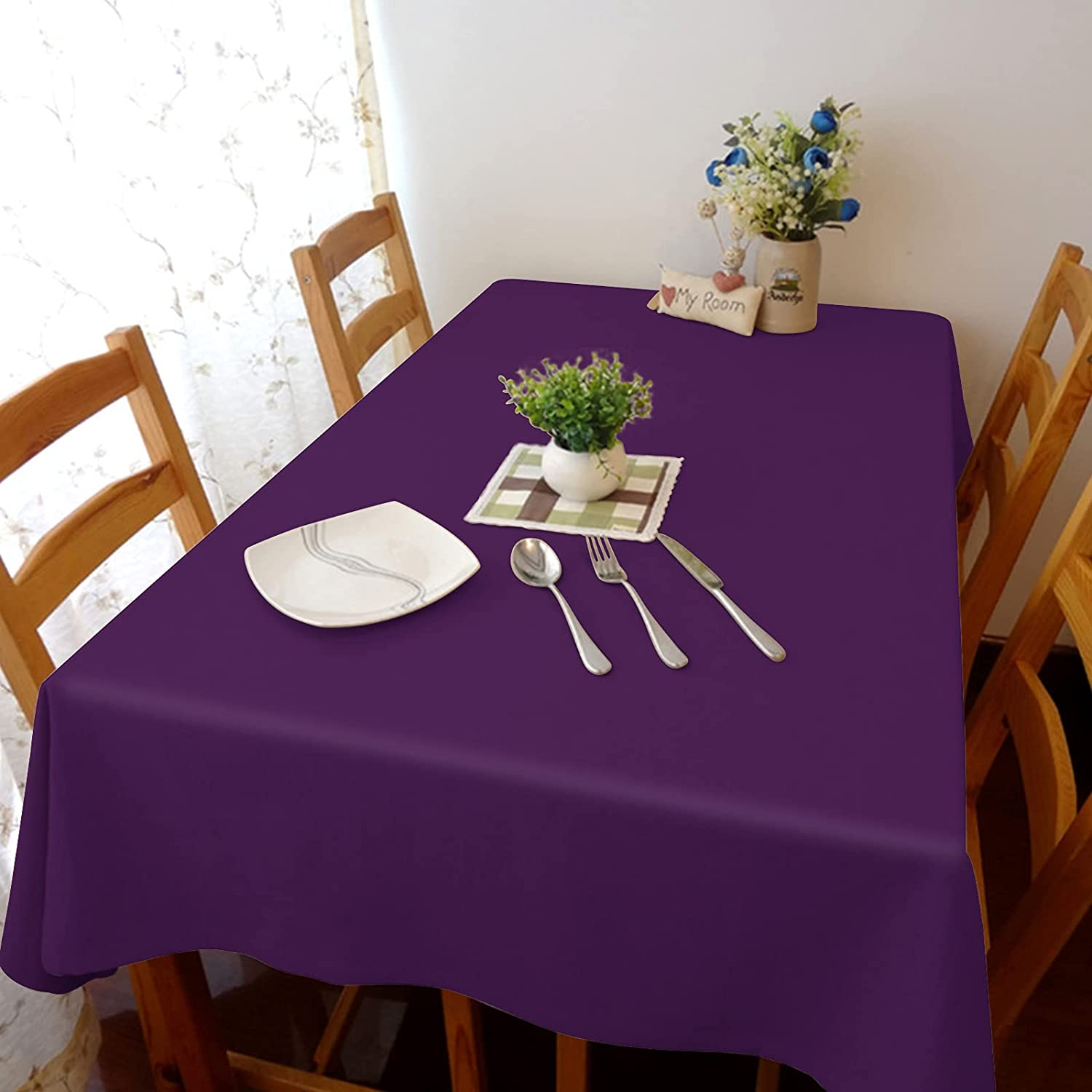 Flouky 60x120in Stretch Durable Dust-Pro Tablecloth Linen Opening Max 61% OFF large release sale Cotton